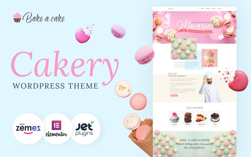 Bake-a-cake - тема WordPress Elementor для кондитерских изделий