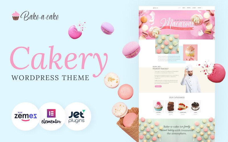 Bake-a-Cake - Thème WordPress Elementor Cakery