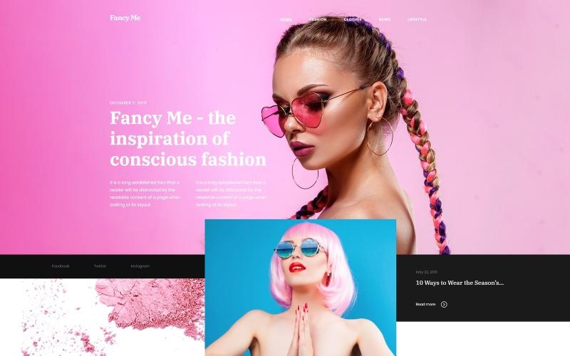 Fancy Me - тема WordPress для модного блога Elementor