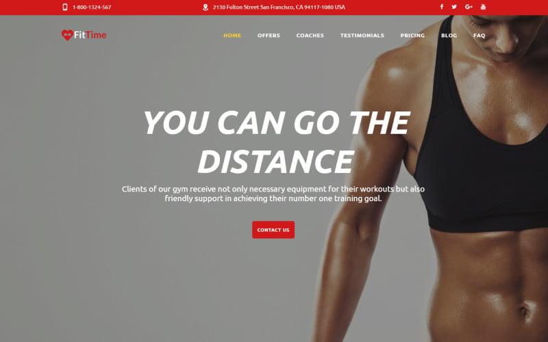 FitTime - modelo de página de destino HTML5 responsivo do Fitness Studio