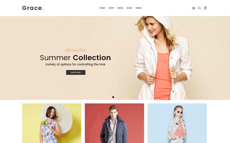 Grace - Thème WooCommerce de magasin de mode minimal