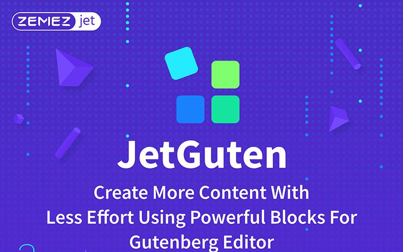 JetGuten - аддон Blocks Set для плагина Gutenberg Editor WordPress