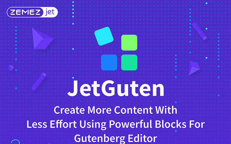 JetGuten - Complemento do conjunto de blocos para o Gutenberg Editor WordPress Plugin