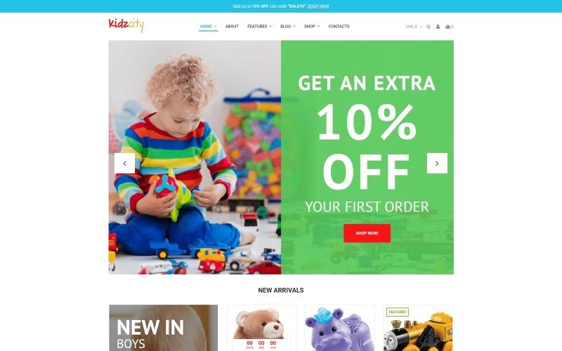 Kidz City - Kids Store Elementor WooCommerce Theme