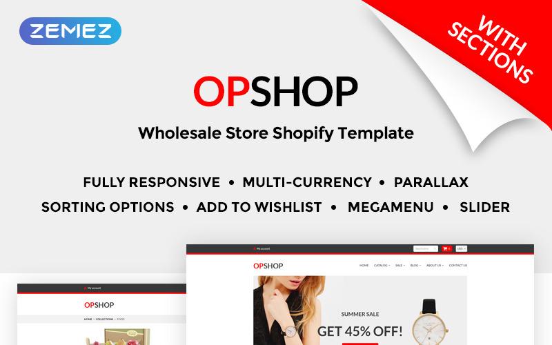 OpShop - Nagykereskedelmi Shopify téma