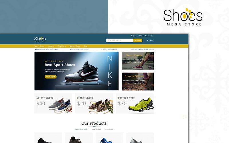 Zapatos Tema de PrestaShop de Mega Store
