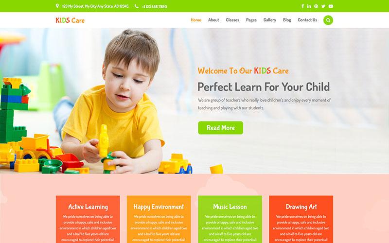 Догляд за дітьми - PSD шаблон для дітей та дитячих садків