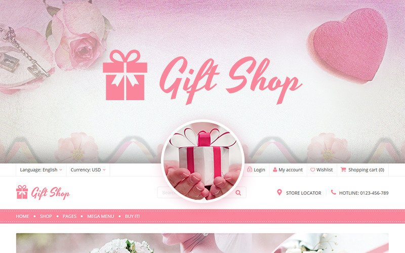 Магазин подарков - для магазинов подарков, цветов, игрушек и аксессуаров Тема WooCommerce