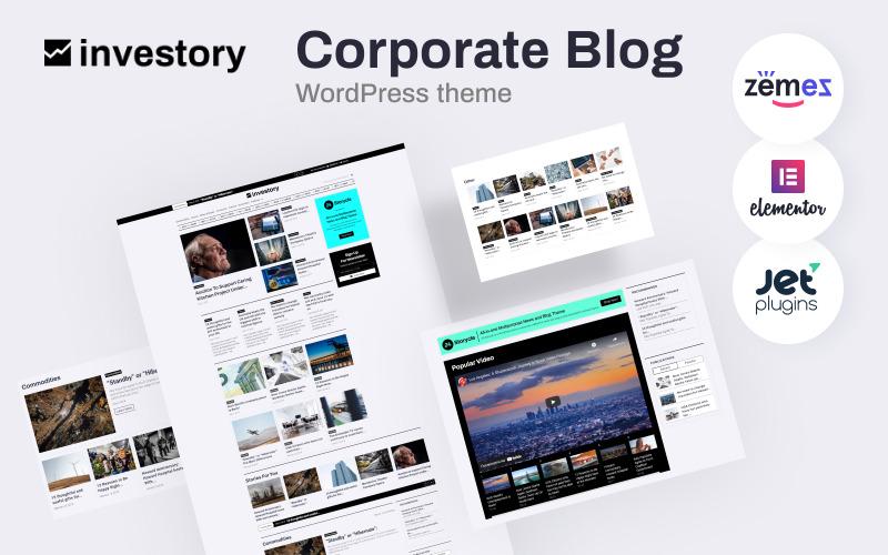 投资-企业博客WordPress Elementor主题