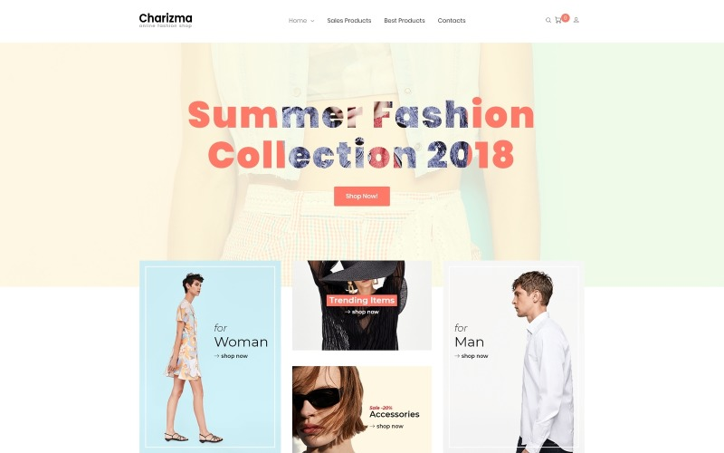 Charizma - Fashion Store Elementor WooCommerce Teması
