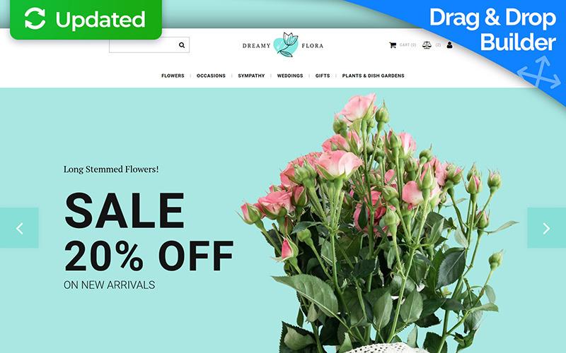 Dreamy Flora - шаблон электронной коммерции MotoCMS для цветочного магазина