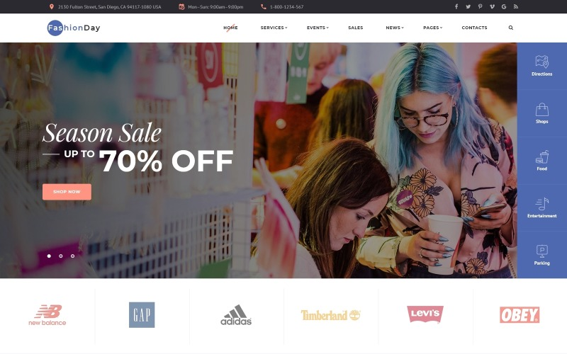 Fashion Day - Plantilla de sitio web HTML multipágina de tienda de moda