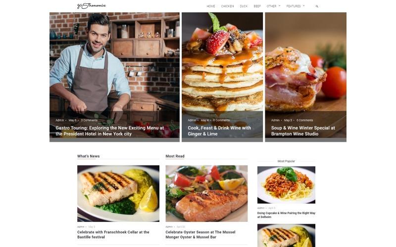 Gastronomix - Tema do Restaurant WordPress Elementor