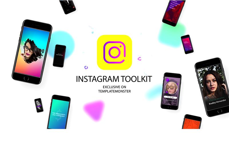 Zestaw narzędzi Instagram After Effects Intro
