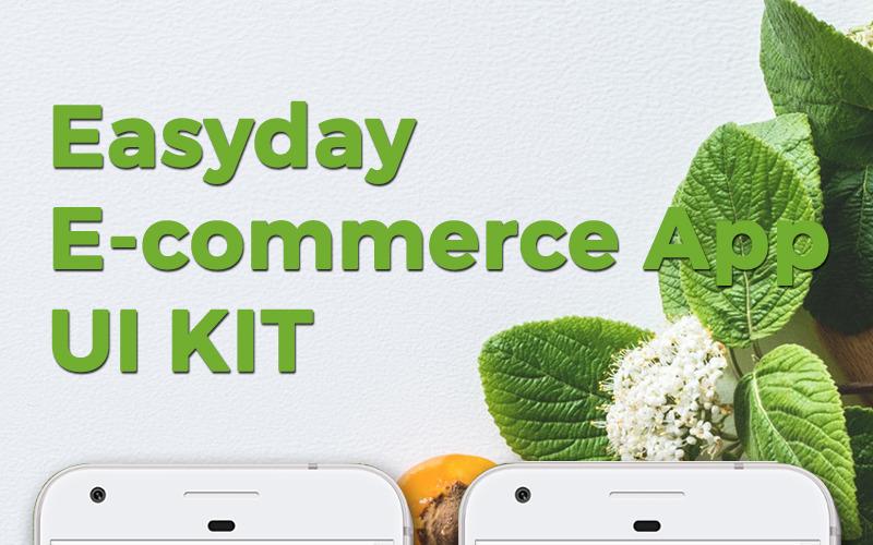 Plantilla de aplicación KIT de aplicación de comercio electrónico de Easyday