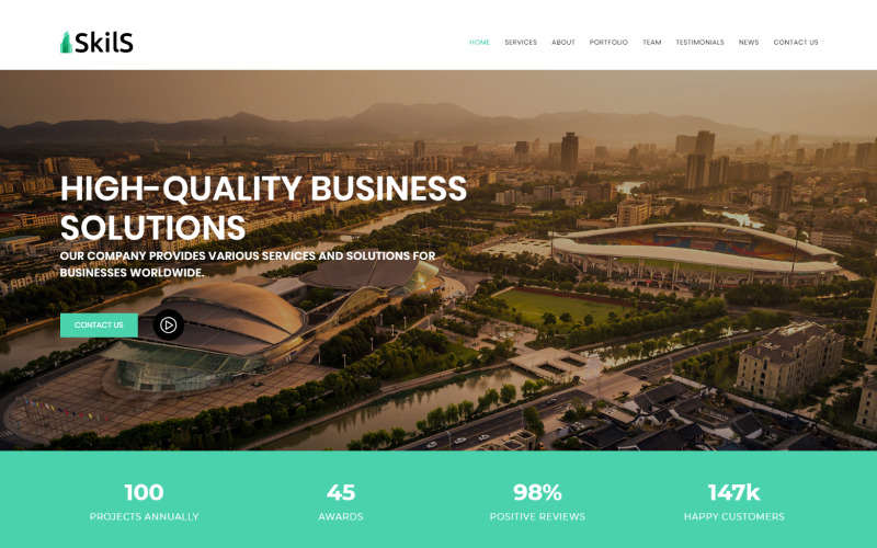 Skils - Business Services HTML Landing Page Template