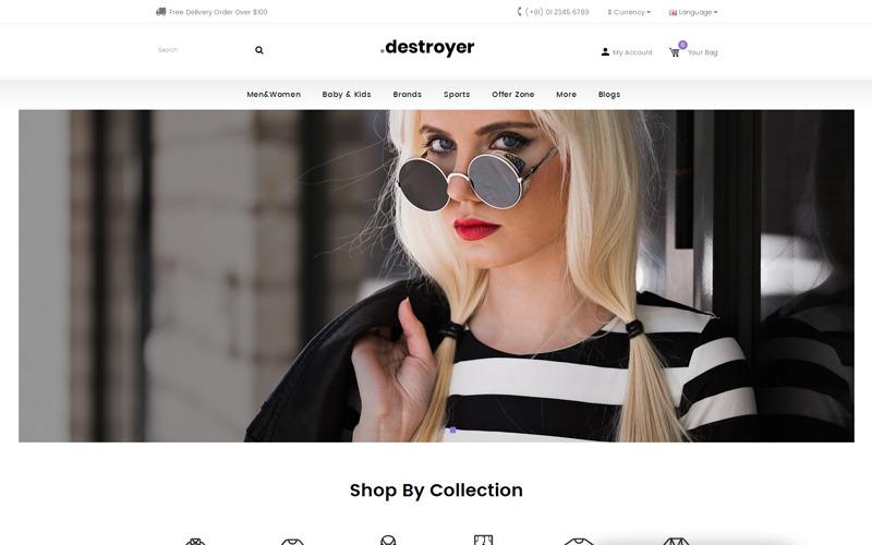 Destroyer - Modewinkel OpenCart-sjabloon