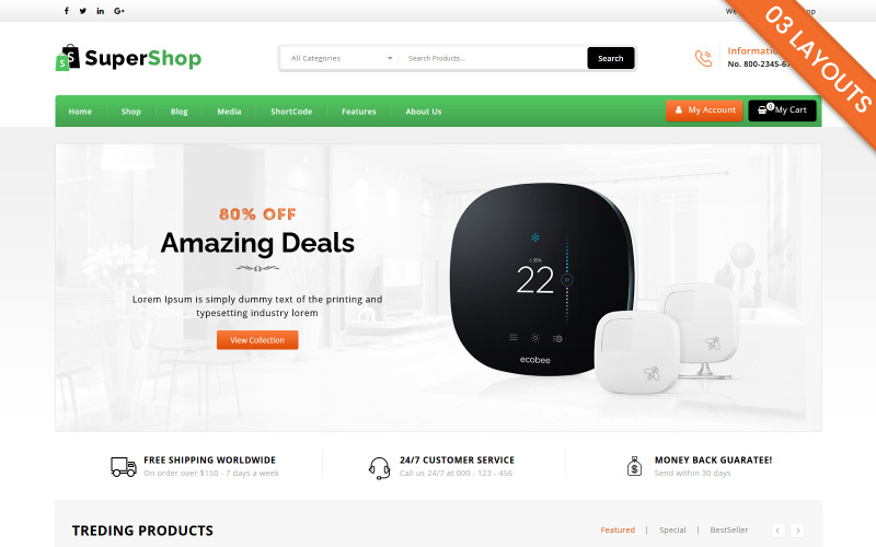 Super Shop - Multi Purpose WooCommerce Theme