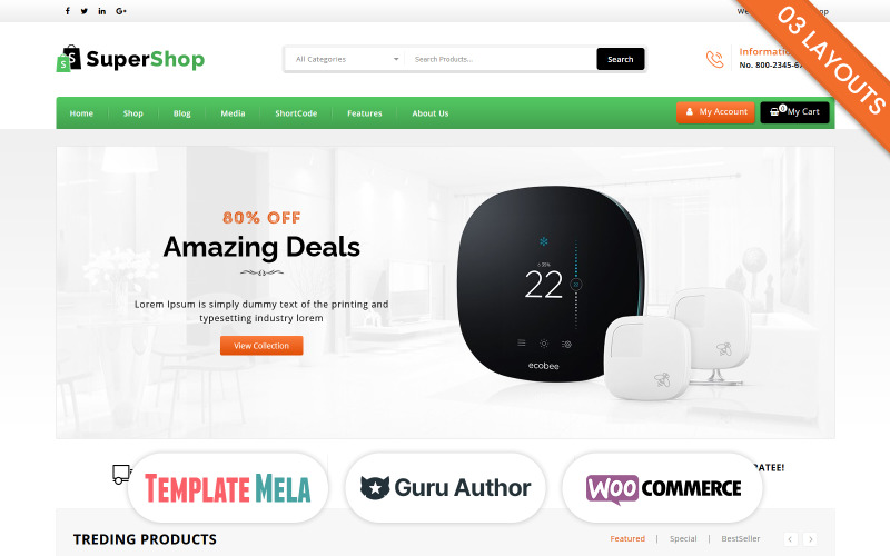 Super Shop - Tema de WooCommerce multipropósito