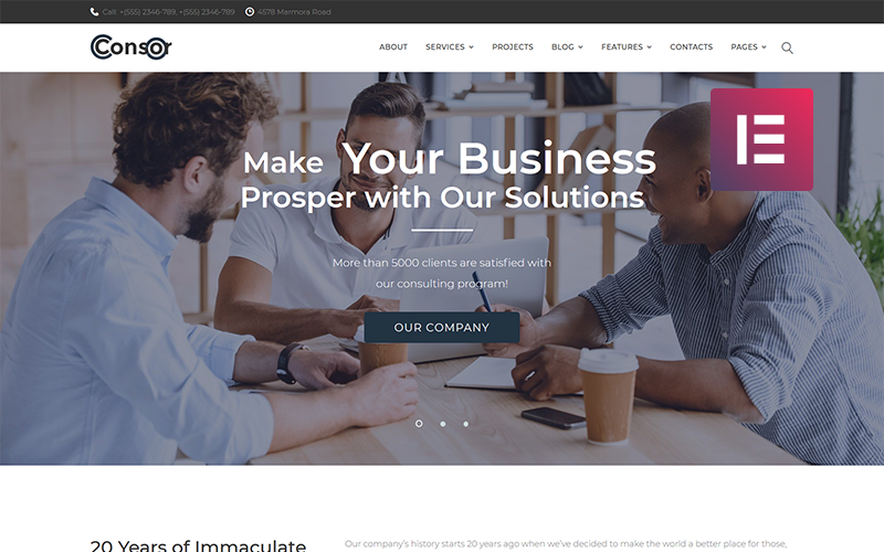 Consor - Business Consulting WordPress Elementor Theme
