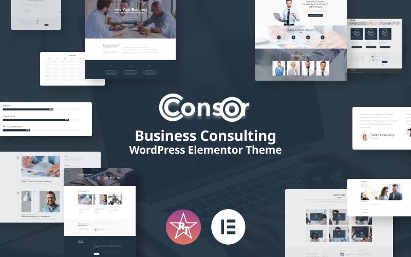 Consor - Tema Elementor de WordPress para consultoría empresarial