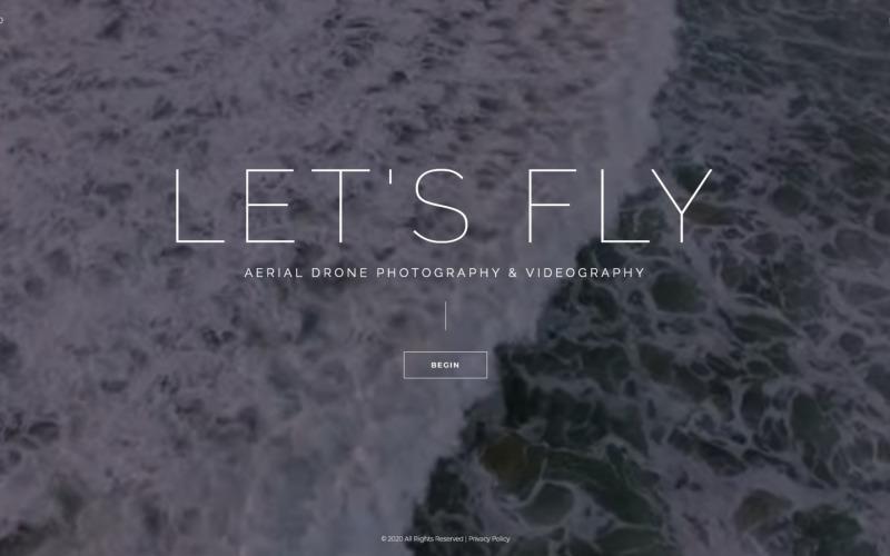 Let's Fly - Modello Joomla per fotografia aerea e videografia
