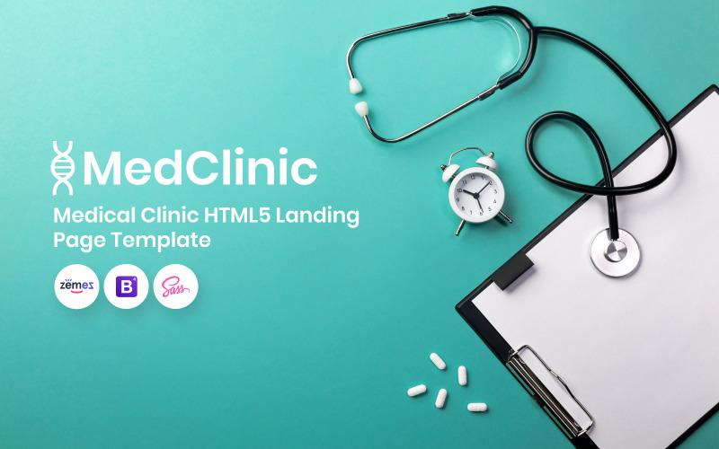 MedClinic - Modelo de página inicial de clínica médica