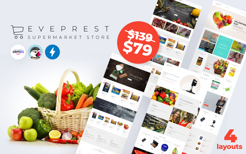 Eveprest Supermarket 1.7 - Supermarket Store PrestaShop Theme