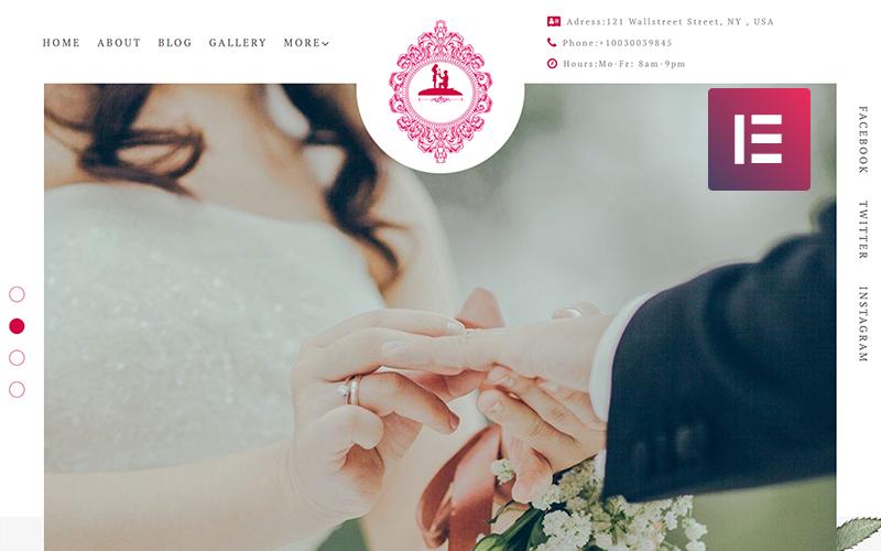 ForeverLove - Wedding Landing WordPress Elementor Theme