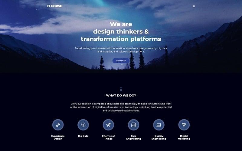 ITforse - Elegant Software Company Joomla Template