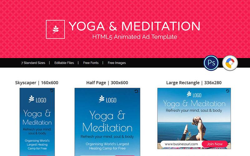 Professional Services Yoga Meditation Ads Animated Banner 71792