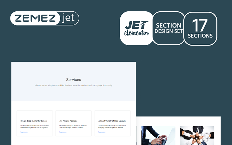 Serwin - Services Jet Sections Elementor Template
