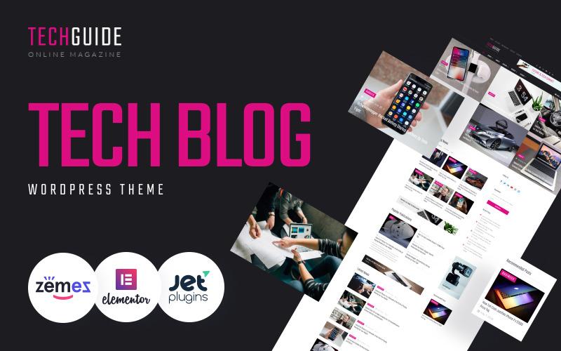 Techguide - Tech Blog WordPress Elementor-thema