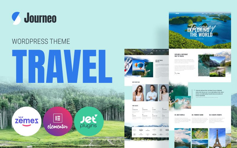 Journeo - Seyahat Acentası WordPress Elementor Teması