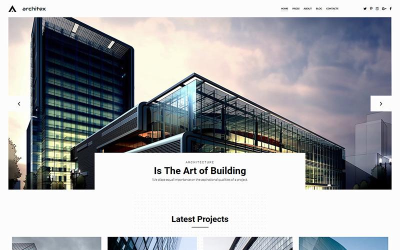 Modelo de galeria de fotos de arquitetos locais