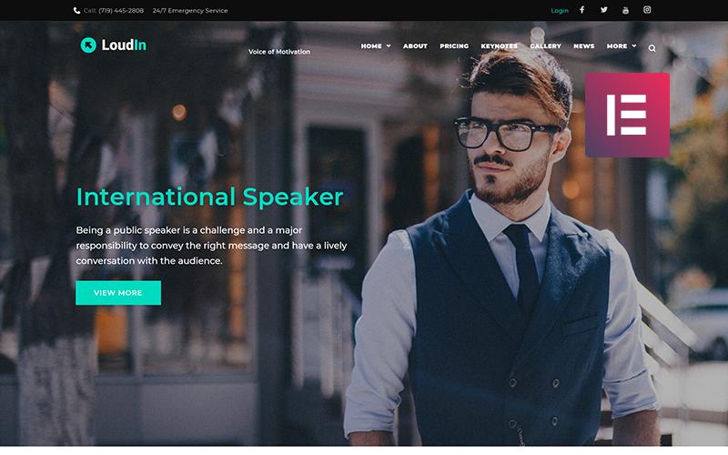 Loudin - Public Speaking WordPress Elementor Theme
