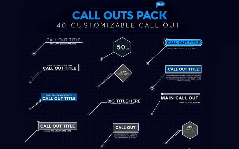 Call Out Pack After Effects Intro