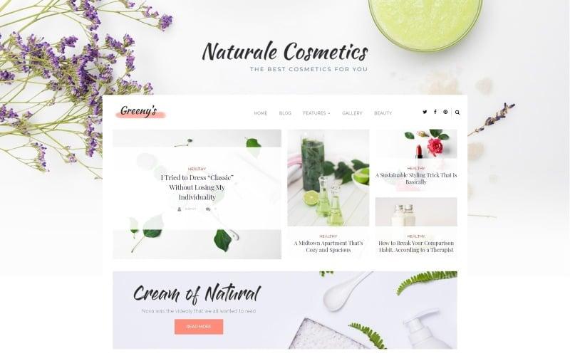 Greeny's - Healthy Fashion WordPress Elementor Theme