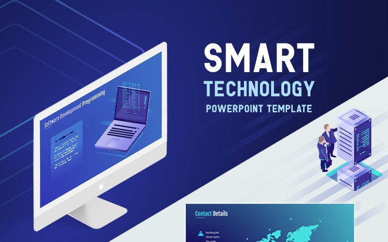 Modèle PowerPoint de technologie intelligente