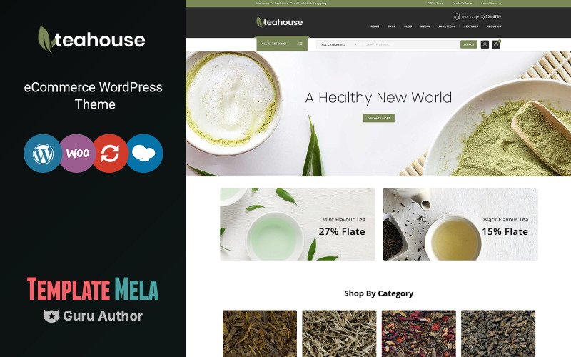 Teahouse - Spice Shop Motyw WooCommerce