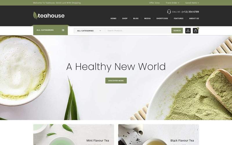 Teahouse - WooCommerce téma Spice Shop