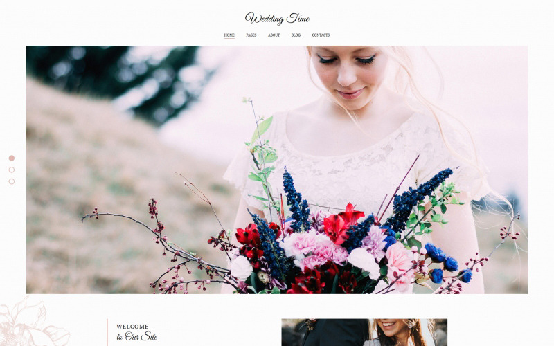 Modelo de galeria de fotos para a hora do casamento