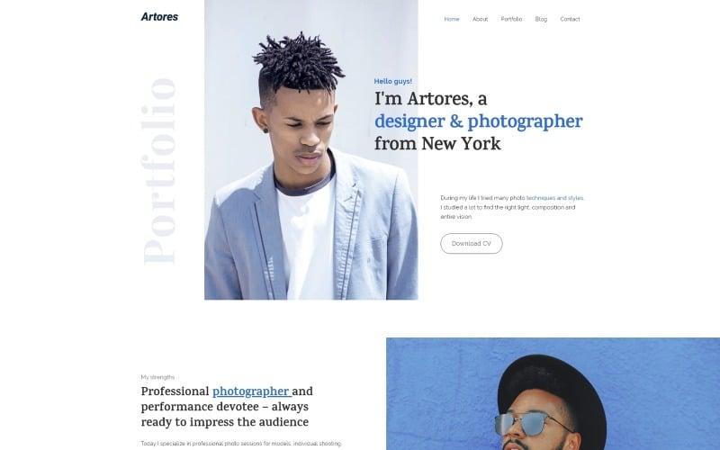 Artores - Personal WordPress Elementor Theme