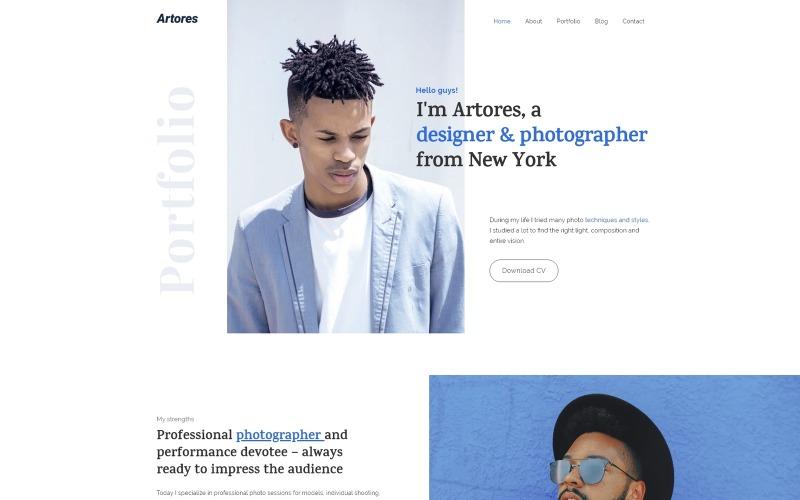 Artores - персональная тема WordPress Elementor