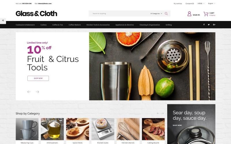 Glass and Cloth - Dishes Store PrestaShop Theme