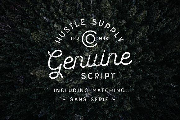 Genuine Script - Fuente texturizada tipo Duo