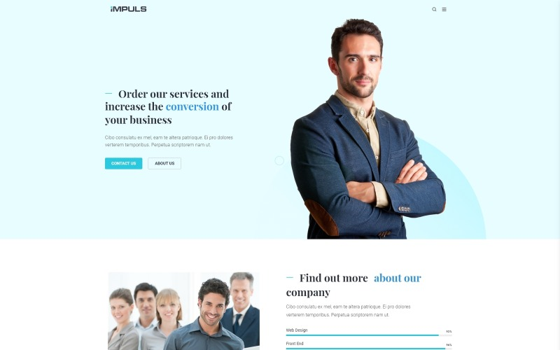 Impuls - Minimal Creative Business WordPress Elementor Theme