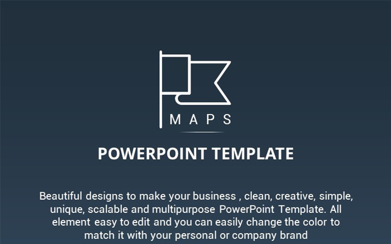 Maps Presentation PowerPoint Template