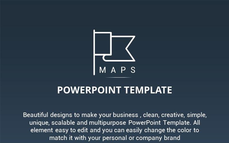 Plantilla de PowerPoint - presentación de mapas
