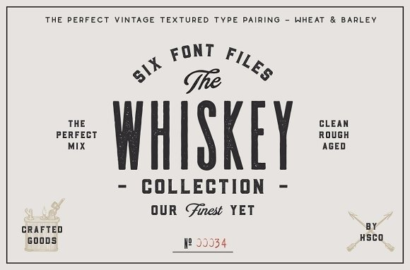 The Whiskey  Collection Font